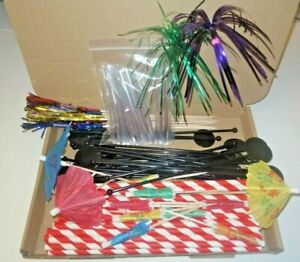 99 Piece Cocktail Drink Accessory Decoration Pack Party Bar Picks Set Straws