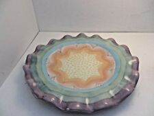 "Vintage Mackenzie Childs Brittany pattern 9"" salad plate rippled edge"