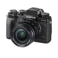 Fujifilm X-T2 Black with 18-55mm F2.8-4 R LM OIS Lens Kit Stock in EU NIB