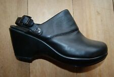 Black Leather ROCKPORT Adiprene by Adidas Optional Heel Strap Low Heels 5.5
