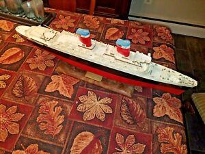 """VTG 28-1/2"""" long SS United states ocean liner cruise ship lighted plastic model"""