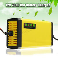 ABS 12V 2AH-20AH Car Motorcycle Smart Automatic Battery Charger Maintainer