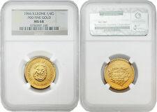 Sierra Leone 1966 1/4 Golde Gold NGC MS68