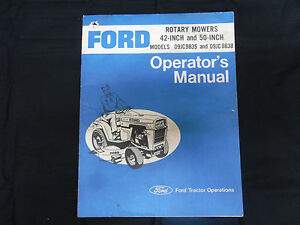 FACTORY ORIG. FORD ROTARY MOWER 42/50 INCH OPERATOR'S MANUAL Lawn Garden tractor