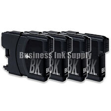 4 Black LC61 Ink Cartridges for Brother MFC-290C MFC-295CN MFC-J415W MFC-J670