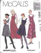 8491 Uncut Vintage McCalls Pattern Misses Jumper Dress Winter Sewing Oop Ff New