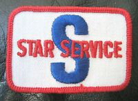 """STAR SERVICE EMBROIDERED SEW ON PATCH UNIFORM VINTAGE NOS 2 3/4"""" x 2"""""""