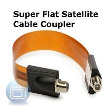 Super Flat Satellite Window / Door Frame F-Connector Cable -  F-Joiner, Coupler