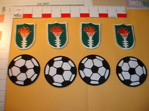 Soccer/Football patch and Olympic torch patch 8 total patches