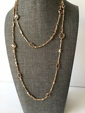 Kendra Scott Yazmin in Sable Mica & Rosegold Long Necklace New