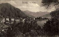 Menaggio Lago di Como Comer See s/w AK 1954 Gesamtansicht Blick über den See