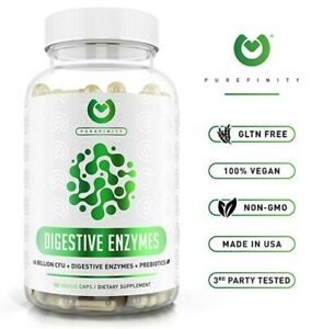 Purefinity, Digestive Enzymes 1000MG Plus Prebiotics & Probiotics Supplement !