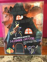 Halloween Haunted 3-D Cookie Cutters Haunted House Witch Cat Pumpkin