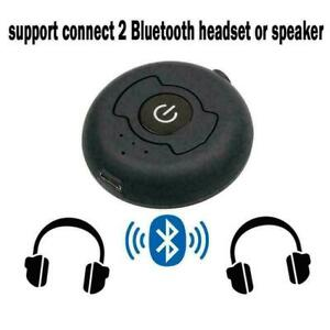 Bluetooth-compatible Transmitter Splitter Sender 3.5mm AUX Stereo Y9O4