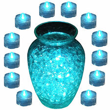 12pk TEAL LED Submersible for Floral Decor Vase centerpiece TeaLight~FREE SHP