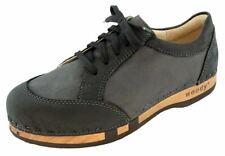 Woody Women's Sneakers Nero Black Size 37-40 Wooden Shoe With Flexible Sole