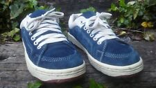 Women's Simple Casual Walking Shoes Leather Blue Size 5 / 35.5