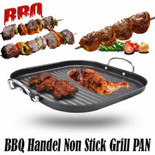 Non-Stick Cast Iron Reversible Griddle Plate Grill Pan BBQ Hob Cooking