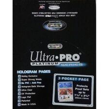 100 Ultra Pro Platinum Hologram 3-Pocket Page for 3-1/2x7-1/2 for Currency