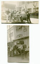 Two Different Vintage Original Photos: SPRINT RACE CARS