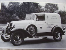 19301931 FORD TOWN CAR DELIVERY  FIRESTONE TIRES  12 X 18  PHOTO  PICTURE