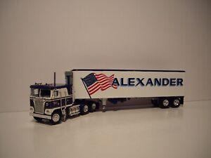 DCP FIRST GEAR 1/64 ALEXANDER KENWORTH K100 SLEEPER CAB W/T REEFER VAN TRAILER