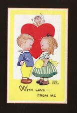Artist MABEL LUCIE ATTWELL #5657 Cupid Boy & Girl used 1958 PPC