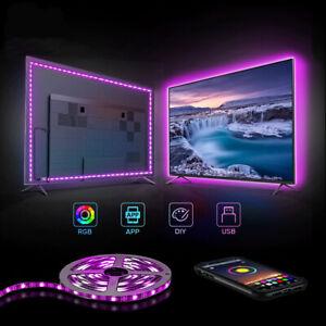 RGB TV,Mirror,PC Backlight USB Powered APP Control LED strip light 1M home decor