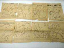 The Bird Life Quilt Patterns from Peoria IL Newspaper Original McKim 1928
