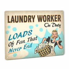 Laundry Worker On Duty Sign Home Soap Vintage Wall Art Country Cabin