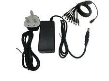 CCTV 12V Volt 5A Amp AC DC Power Supply Source Adapter 8 Way Splitter Mains Plug