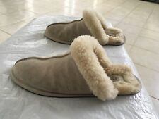 EUC UGG AUSTRALIA SUEDE SHEARLING SLIPPERS SIZE 9