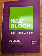 2013 H&R Block Deluxe Federal +State Tax Return