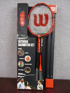 Wilson Outdoor Badminton Set 4 Racquets, 4 Shuttlecocks, 20ft Net + Bag
