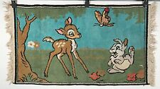 Vintage Bambi Rug - Bambi and Thumper in the Forest - Walt Disney 38x21
