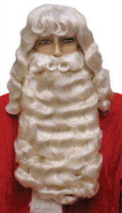 Santa Claus Set Supreme White Wig & Wide Beard With Mustache Christmas 004L