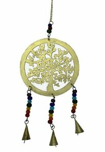 Brass Tree of Life Chimes with Bells - pagan - wicca - spiritual