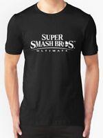 New Super Smash Bros Ultimate Logo White Men's T-Shirt Size S - 3XL