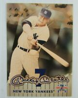 Mickey Mantle  New York Yankees 7th Game Baseball Card #3 Of 7 Cooperstown