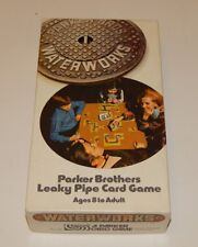 Vintage 1972 Parker Brothers Leaky Pipe Card Game WATER WORKS Complete R16171