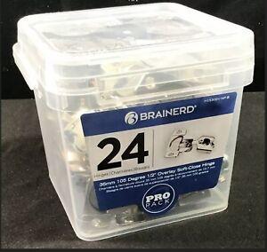 "New Brainerd 24pk 2-3/4"" x 2-1/8"" SOFT-Close Nickel Plated Hinge *FREE SHIPPING*"