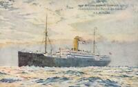 VINTAGE New Zealand Shipping Co S.S. REMUERA POSTCARD - TRIP via PANAMA