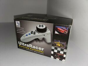 BRAND NEW ULTRA RACER STEERING WHEEL CONTROLLER FOR PLAYSTATION 1 SYSTEM N57