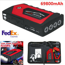 69800mAh 12V Car Jump Starter Pack Booster 4 USB Charger Battery Power Bank -USA