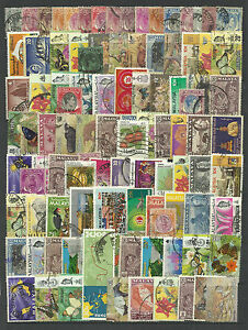MALAYSIA STAMP COLLECTION PACKET of 100 DIFFERENT Used Stamps NICE SELECTION