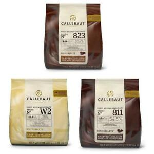 Belgian Callebaut Dark, White & Milk Chocolate Chips 400g Baking Ganache