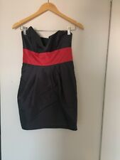 Grey & Red Strapless Dress from Jessica's Attic Size UK 8