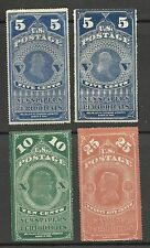 USA Etats Unis  4 timbres pour journauxYT 1/3  RARE (recto verso )