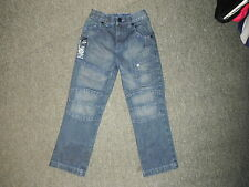 "George Relaxed Fit Jeans Waist 21"" Leg 19"" Faded Dark Blue Boys 5/6 Yrs Jeans"