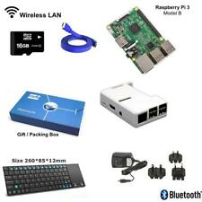 Raspberry Pi 3 Model B Complete Starter Kit with Mini Wireless Keyboard - White